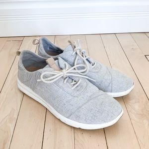 Cabrillo Drizzle Grey Chambray Mix Sneakers// TOMS
